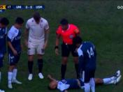 Universitario de Deportes vs. San Martín: terrible choque dejó maltrecho a Saúl Salas | VIDEO