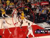 YouTube: LeBron James regaló este sensacional doble en Los Angeles Lakers vs. Trail Blazers | VIDEO