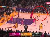 Los Ángeles Lakers vs. Houston Rockets: observa el primer doble de LeBron James en el Staples Center | VIDEO