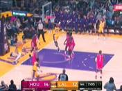 Los Ángeles Lakers vs. Houston Rockets: LeBron James y la volcada que hizo delirar al Staples Center | VIDEO