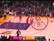 Los Ángeles Lakers vs. Houston Rockets: LeBron James y el no look pass que deleitó al Staples Center | VIDEO