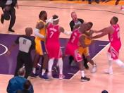 Los Ángeles Lakers vs. Houston Rockets: pelea entre Rajon Rondo y Chris Paul en la NBA | VIDEO