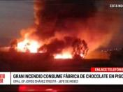 Ica: incendio consume fábrica de chocolate en Pisco