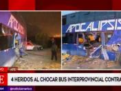 Ate: choque de tren contra bus interprovincial deja 4 heridos | VIDEO