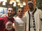 Lionel Messi y Paul Pogba se encontraron en reconocido restaurante de Dubai | VIDEO