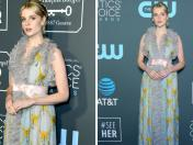 Critics' Choice Awards 2019: Lucy Boynton cautivó en la alfombra roja | FOTOS