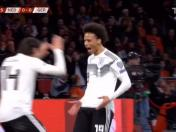 Alemania vs. Holanda: Leroy Sané anotó el 1-0 por las eliminatorias rumbo a la Euro 2020 | VIDEO