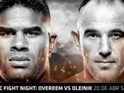 UFC Fight Night EN VIVO ONLINE vía Fox Sports: Overeem vs. Oleinik desde San Petersburgo