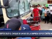 Chincha: choque entre bus interprovincial y mototaxi deja dos muertos | VIDEO