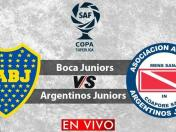 Boca Juniors vs. Argentinos Juniors EN DIRECTO vía Fox Sports 2: empatan 0-0 en Copa de la Superliga | VIDEO