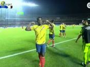 Colombia vs. Qatar: Duván Zapata anotó el 1-0 con un cabezazo tras centro de James Rodríguez | VIDEO