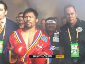 Pacquiao vs. Thurman: así fue la salida de 'Pacman' al ring del MGM de Las Vegas | VIDEO
