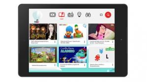 Tablet con YouTube Kids