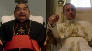 "Ramón García y Jude Law en escena de ""The Young Pope""."