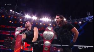 Dean Ambrose y Seth Rollins, integrantes de The Shield, mantuvieron los títulos en pareja de Raw