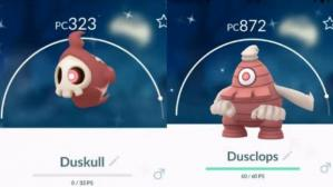 Duskull y Dusclops Shiny. (Foto: Captura)