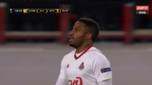 Jefferson Farfán estuvo cerca de anotarle al Atlético de Madrid en la Europa League