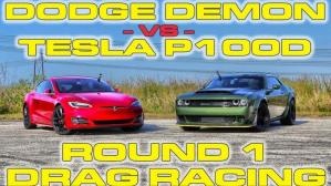 Dodge Challenger SRT Demon vs. Tesla Model S P100D