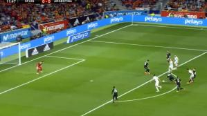 Argentina vs. España: mira el gol de Diego Costa | VIDEO
