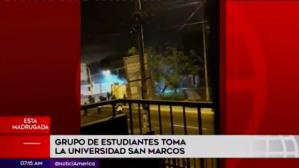 Así inició la toma del campus universitario de San Marcos [VIDEO]
