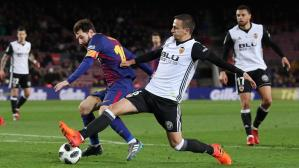Messi vs. Valencia. (Foto: AFP)