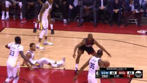 Warriors vs. Rockets: Chris Paul dejó en suelo a Curry con esta jugada | VIDEO | NBA