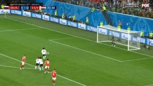 Rusia vs. Egipto: Mohamed Salah anotó de penal en duelo por Mundial 2018. (Foto: Captura de video)