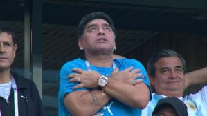 Argentina vs. Nigeria: Messi anotó y desató la locura de Diego Maradona. (Foto: Captura FOX Sports 1)