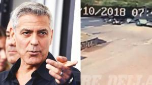 George Clooney: el impactante video de su accidente en moto se viraliza en YouTube y Facebook