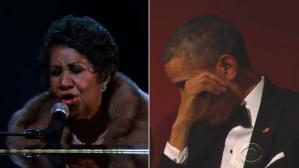 Aretha Franklin y Barack Obama