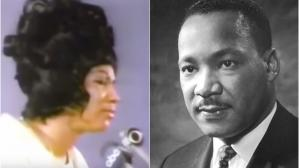 Aretha Franklin y Martin Luther King