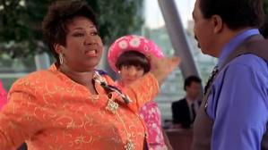 "Aretha Franklin en escena de ""Respect"" con los Blues Brothers"