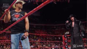 WWE Raw: The Undertaker apareció y encaró a Shawn Michaels. (Foto: WWE)