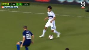 México vs. Estados Unidos EN VIVO: espectacular desborde y jugada de Diego Lainez | VIDEO