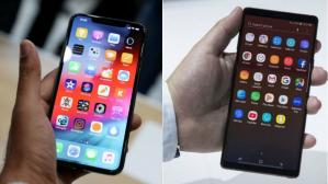iPhone xs max y Samsung Galaxy Note 9