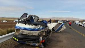 Pedirán prisión preventiva para chofer y copiloto de bus tras accidente en Puno