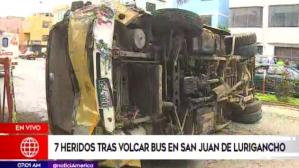 Accidente de tránsito en SJL.