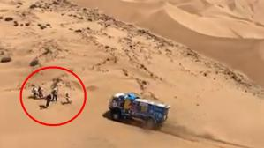 Dakar 2019: camión atropelló a espectador y es investigado | VIDEO. (Foto: Captura de pantalla)