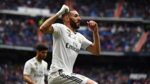Karim Benzema marcó el tercero para Real Madrid frente al Athletic Club. (Foto: AFP)