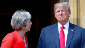 "Donald Trump califica el manejo del Brexit por Theresa May como un ""desastre"""