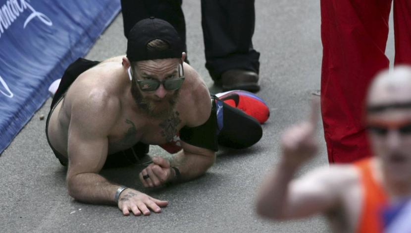 YouTube: el conmovedor momento que vivió un marine en la Maratón de Boston | VIDEO. (Video: YouTube/Foto: AFP)
