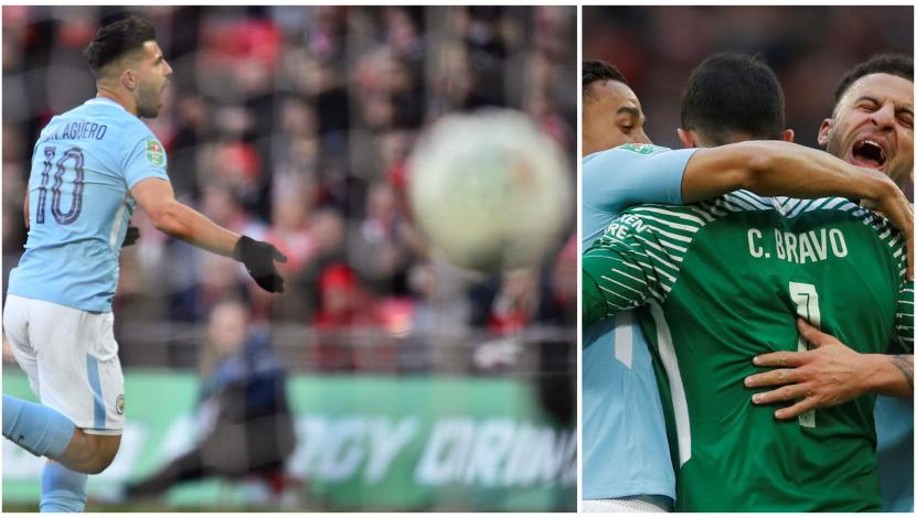 Claudio Bravo asistió a Sergio Agüero en increíble golazo. (Video: YouTube/Foto: AFP)