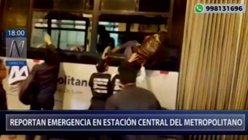 Metropolitano,Protransporte,Amago de incendio,Estación Central