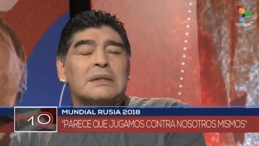 Maradona hablando de Sampaoli. (Video. YouTube)