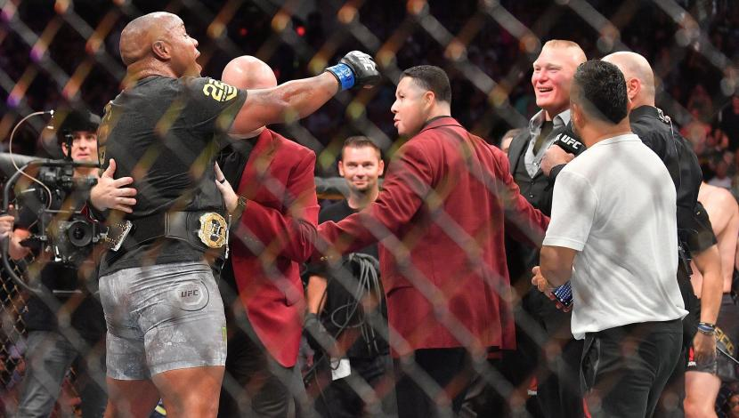 UFC 226: Brock Lesnar ingresó al octágono y retó a Daniel Cormier. (Video: YouTube/Foto: AFP)