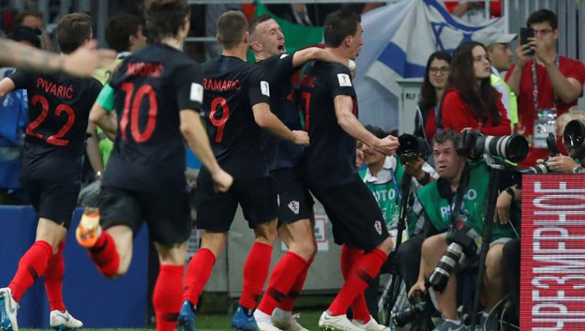 Inglaterra vs. Croacia EN VIVO: el gol de Mandzukic para el 2-1 en el alargue [VIDEO] (Foto: captura de FOX)