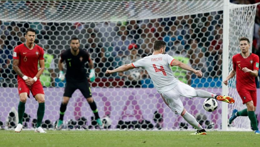 Nacho, gol contra Portugal. (Video: YouTube/Foto: AFP)