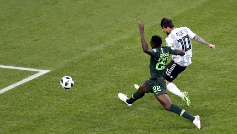 Lionel Messi, gol contra Nigeria. (Video: YouTube/Foto: AFP)