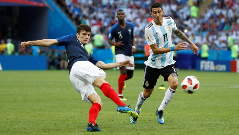 Benjamin Pavard, gol contra Argentina. (Video: YouTube/Foto: AFP)