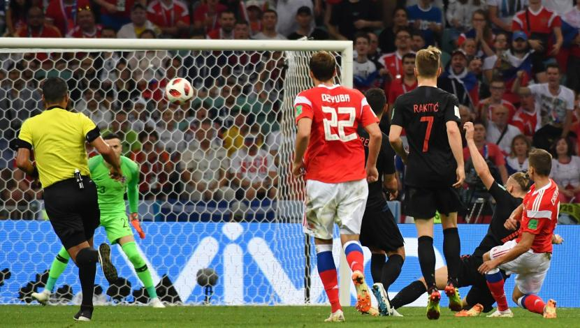 Denis Cheryshev, gol contra Croacia. (Video: YouTube/Foto: AFP)